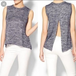 Rag & Bone | Nicole Split Back Marled Knit Tank